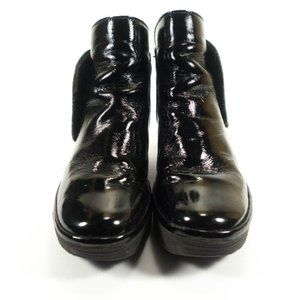 Fly London Yogi Patent Leather Wedge Boots